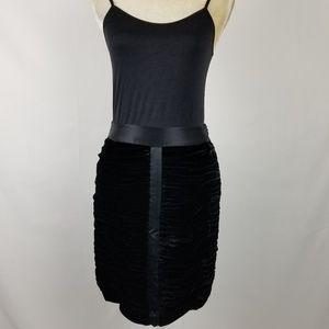 INC International Concepts Ruched Velvet Skirt